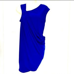 Nine West asymmetrical blue dress size 6